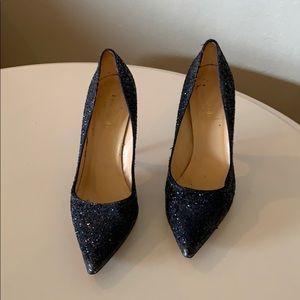 Kate Spade Navy Sequin Stilettos